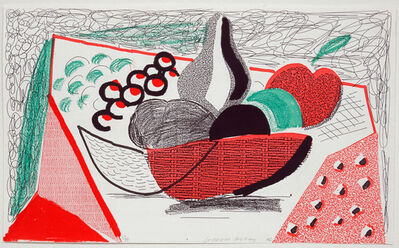 David Hockney, 'Apples, Pears & Grapes, May 1986', 1986