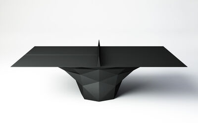 "Janne Kyttanen, '""Deceptor"" Ping Pong Table Tennis Table Powder-Coated in Black', 2014"