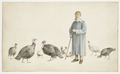 Josephus Augustus Knip, 'A Boy with his Turkeys'