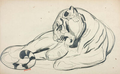 Paul Jouve, 'Wildcat', Circa 1925