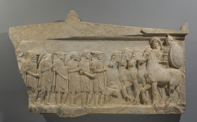 'Votive Relief to Achilles and Thetis', ca. 350 BCE