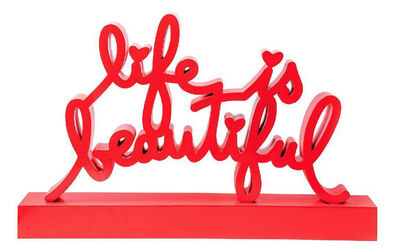Mr. Brainwash, 'Life Is Beautiful-Red', 2020