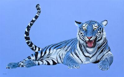Helmut Koller, 'BLUE TIGER ON BLUE', 2012