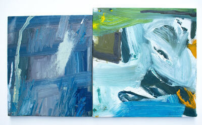 Peter Matthews, 'From the Atlantic coast of Maine (right) and the Pacific coast of California (left)', 2019