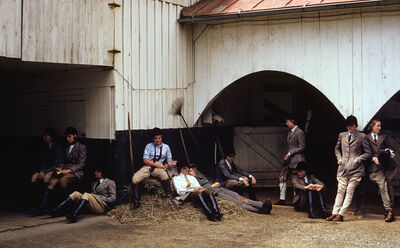 Slim Aarons, 'The Girls of Foxcroft School Waiting at the Stables for their Horses, Virginia', 1960