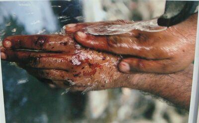 Atul Bhalla, 'HAND WASHES BLOOD   ', 2009