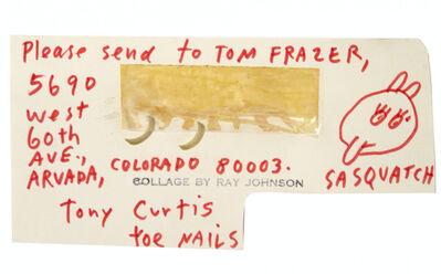 Ray Johnson, 'Tony Curtis Toe Nails', 1970