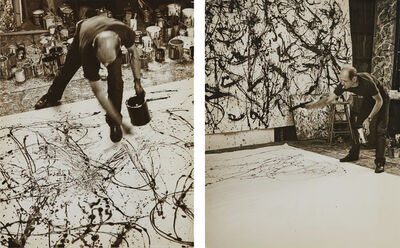 Hans Namuth, 'Selected Images of Jackson Pollock painting', 1950