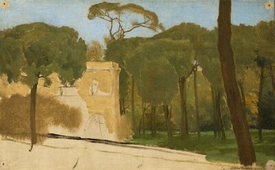 Sir Lawrence Alma-Tadema, 'Pine Trees in a Roman Park', 1876