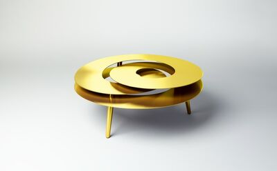 Janne Kyttanen, 'Rollercoaster Medium Table (Gold Plated)', 2014