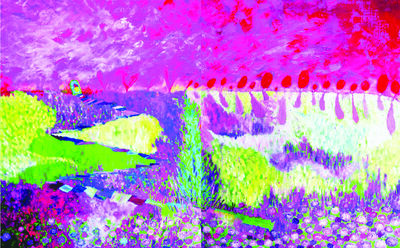 Kiyoka Yamagata, 'Beyond To Hill', 2016