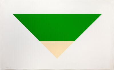 Ellsworth Kelly, 'Green/White', 1970-1972