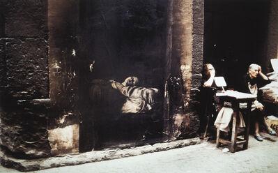 Ernest Pignon-Ernest, 'Mort de la Vierge d'après Caravage, Naples', 1990