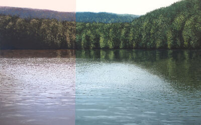 Benoît Trimborn, 'Grand lac avec modulation rouge', 2020