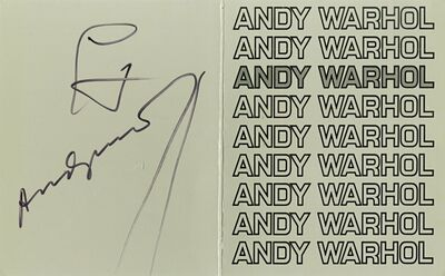 Andy Warhol, 'ANDY WARHOL (Hand Signed)', 1978