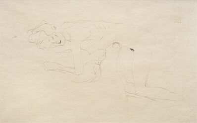 Gustav Klimt, 'Kneeling Nude Facing Left', 1904