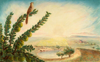 John Steuart Curry, 'Morning (Brown Thrush on Osage Branch...)', 1936