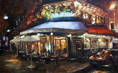 Elena Bond, 'Night Time at Cafe De Flore', 2016