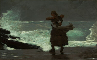 Winslow Homer, 'The Gale ', 1883-1893