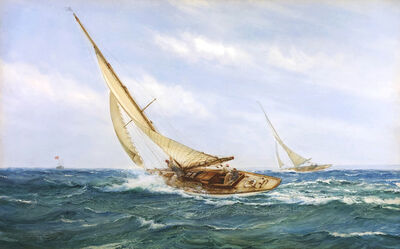 Montague Dawson, 'A Close Race'