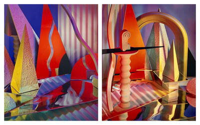 Barbara Kasten, 'Diptych II Construct XXX-XXIX', 1985