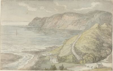 Thomas Rowlandson, 'View from the Inn at Lynton', probably 1811