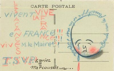 Louis Marcoussis, 'Postcard from Louis Marcoussis to Countess Pecci Blunt, from Gadencourt', n.a.
