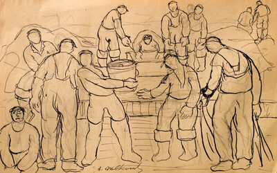 Abraham Walkowitz, 'Fishermen and Clammers', n.d.