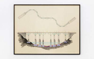 Charles Avery, 'Untitled (An idea for a Bridge)', 2021