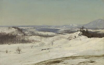 Frederic Edwin Church, 'View from Olana in the Snow', ca. 1871