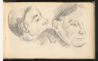 Paul Cézanne, 'Two Heads', 1890/1896