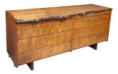 George Nakashima, 'Custom Made George Nakashima Maple Free-Edge Double Chest of Drawers', Circa 1970