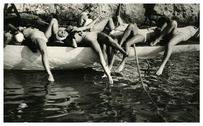 """Jacques Henri Lartigue, 'On the set of the movie """" les aventures du Roi Pausole"""", Cap d'Antibes, France', 1932"""