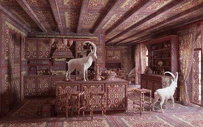 Farid Rasulov, 'Goats in the kitchen', 2014