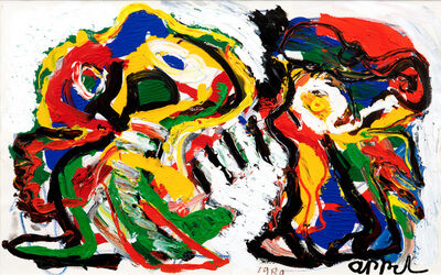 Karel Appel, 'Angry Together', 1989