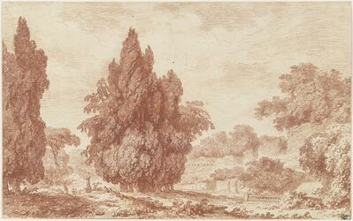 Jean-Honoré Fragonard, 'A Stand of Cypresses in an Italian Park', ca. 1760