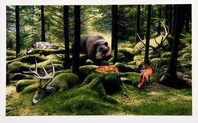 Josh Keyes, 'The Sleeping Woods', 2014