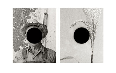 Bill McDowell, 'Detail of Mr. Tronson, Farmer Near Wheelock, ND, 1936 (Russell Lee) / Detail of Untitled, Alabama, 1936 (Walker Evans)', 2015