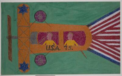 Eddie Arning, 'Orange Airplane, U.S.A. 75', ca. 1964