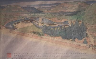 Frank Lloyd Wright, 'Frank Lloyd Wright, Boulder House for Charles Klotsche, Santa Fe, Special Copyrighted and Licensed Poster', 1991