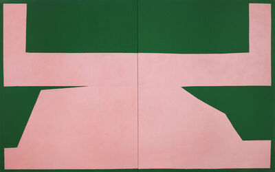 Michael Wall, 'Pink on Green I', 2017