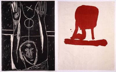 """Mimmo Paladino, 'Carro dormente (from the portfolio """"For Joseph Beuys"""")', 1986"""