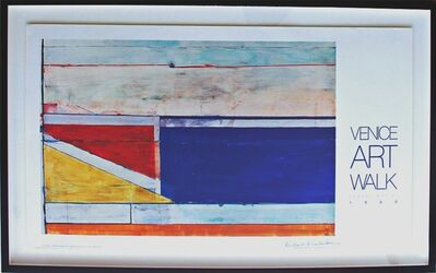 Richard Diebenkorn, 'Venice Art Walk (hand signed) ', 1989