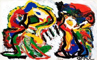 Karel Appel, 'Angry Together', 1989