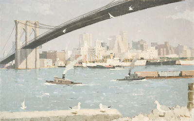 Paul Sample, 'View of Lower Manhattan, From Brooklyn Heights', ca. 1950