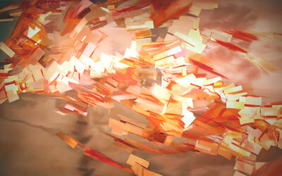 Thuy-Van Vu, 'For Thich Quang Duc (1,000 Tags)', 2006