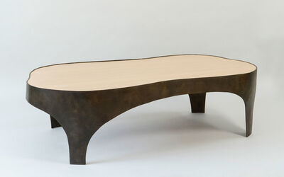 Jacques Jarrige, 'Bronze and Anigre wood COFFEE TABLE by Jacques Jarrige', 2018