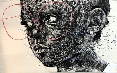 Nelson Makamo, 'Girl with Red Glasses', 2018