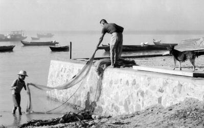 Loke Hong Seng, 'Cleaning the Fishing Net', 1969