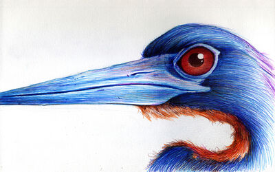 Gigi Chen, 'Long Necked (Blue with Red Eyes)', 2018